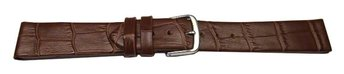 Watch band - genuine leather - croco - for fixed pins -...