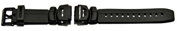 Watch strap Casio for WS-300-1, WS-300-7, rubber, black