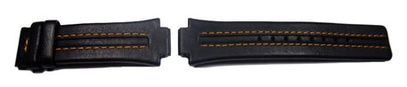 Festina No. 9 Replacement Strap for F16224 - Black - Orange stitching