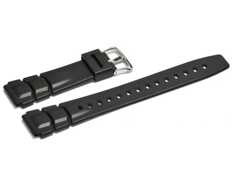 Casio Watch strap for ALT-6000, ALT-6100, rubber, black