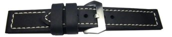 Watch strap - folded four times - extremely stable - black