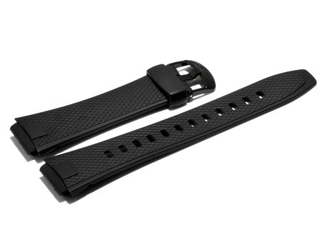 Watch strap Casio for AQ-164W, rubber, black