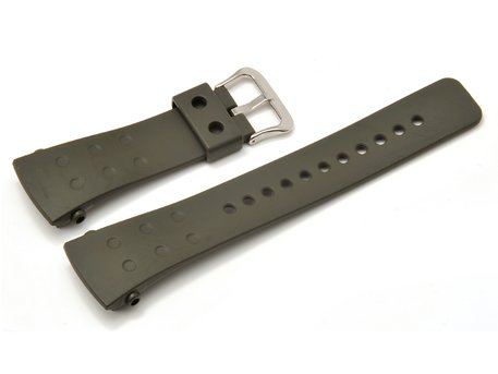 Watch strap Casio for G-8000, rubber, olivgreen