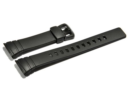 Watch strap Casio for WVA-107H, rubber, black