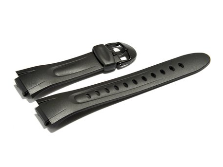 Watch strap Casio for W-42H, W-43H, rubber, black