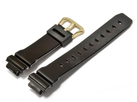 Casio Watch strap for DW-6900CB-1, rubber, black