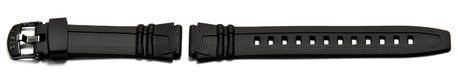 Genuine Casio Black Resin Watch strap for HDD-600, HDD-600G