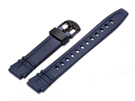 Watch strap Casio for HDD-600C, rubber, blue