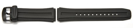 Watch strap Casio for W-211, rubber, black