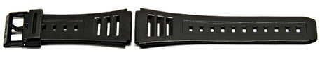 Watch strap Casio f. EB-3002,JC-11-1, W-740, rubber, black