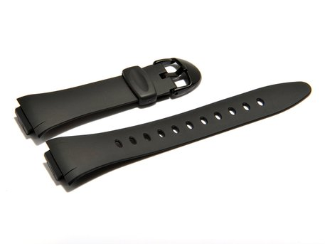 Watch strap Casio f. F-E10-1A, AQ-E10-1, rubber, black