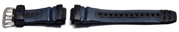 Watch strap Casio f. G-315RL-2AV,rubber grey/Leather blue