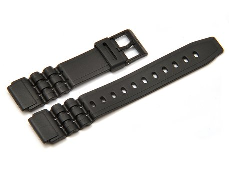 Watch strap Casio for W-87H-1, rubber, black