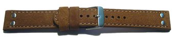 Watch strap - Genuine water buffalo - vintage - brown