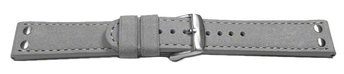 Watch strap - Genuine water buffalo - vintage - grey