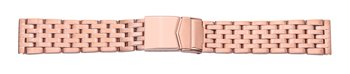 Metal watch band - Stainless steel - polished - Rosé Gold...