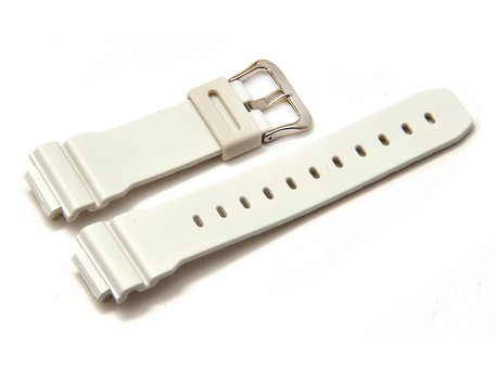 Casio Replacement Watch strap f. DW-5600FS,DW-6900A,G-6900A,rubber,white