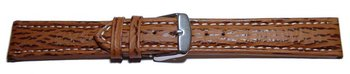 Watch strap - Genuine Shark leather - brown