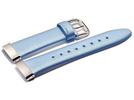 Casio Watch strap f. MSG-133L,MSG-131L,Leather, light blue