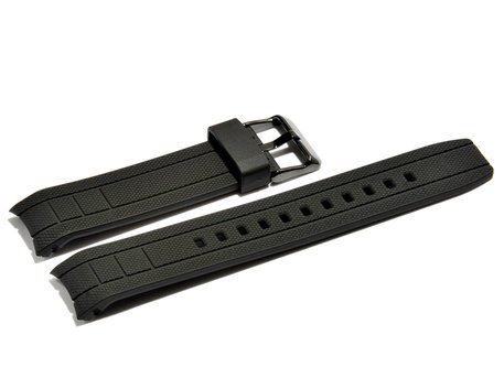 Watch strap Casio for EFA-132PB, EFA-132PB-1AV, rubber, black