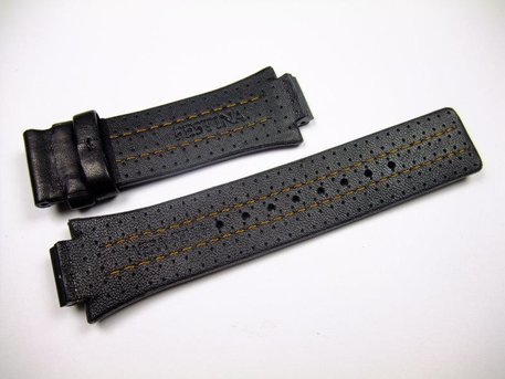 Festina black replacement strap for F16280 and F16185 - orange stitching