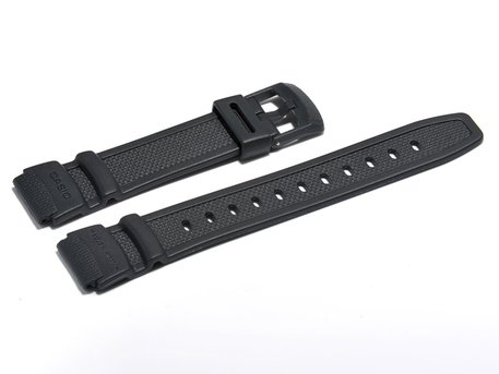 Watch strap Casio for W-93H, rubber, dark blue