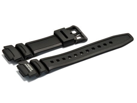 Watch strap Casio for AQW-100, rubber, black