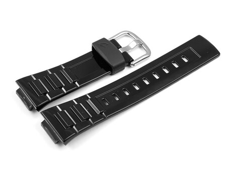 Casio Shiny Black Resin Watch Band f. BG-3000, BGR-3000, BGR-3003