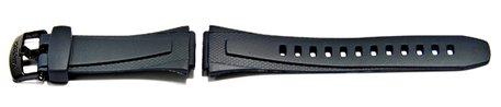 Watch strap Casio for W-753-2, rubber, dark blue
