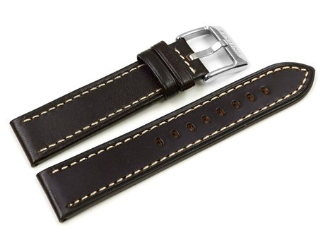 Dark brown Leathe Festina Watch Band for F16243 - with Ligh-colored Stitching
