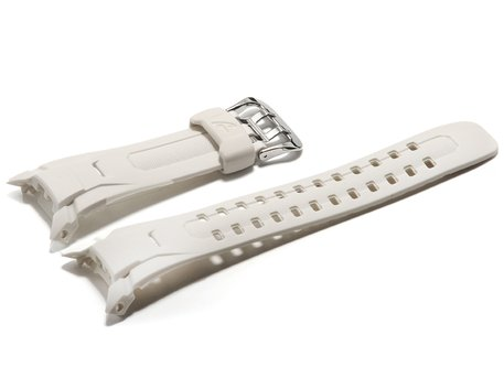 Genuine Casio White Resin Replacement Watch Strap for GW-M850-7