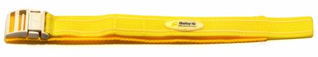 Velcro-Watch strap Casio f. BG-1003AN-9,BG-341,e.g.,Textile,yellow