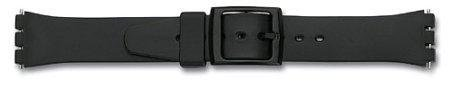 Watch band - rubber - for Swatch - black - 12mm