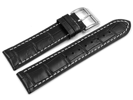 Festina Replacement Band for F16275 - Leather - Black - White Stitching