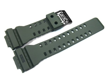 Watch strap Casio f. GD-100MS, rubber, olive