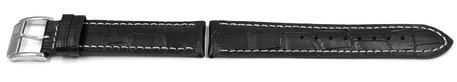 Festina Watch Strap for F16276/4,  F16276 - Black Leather - White Stitching