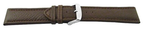 Watch strap - genuine leather - grain - black - 26, 28 mm