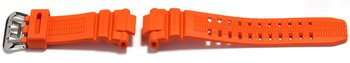 Watch strap Casio for GW-3000M-4AJF, rubber, orange