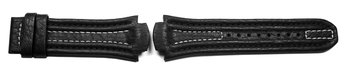 Lotus watch strap for15507 and 15502 - Black leather,...