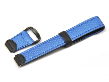 Velcro-Watch strap Casio for LW-200V, LW-200,Textile/Leather, blue