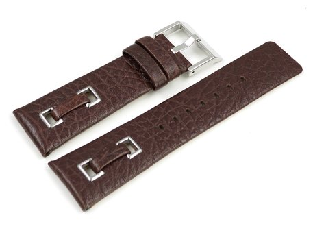 Watch strap Festina for F16183, Black Rubber/Leather, White Stiching