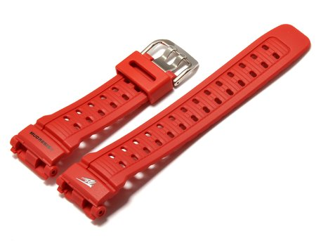 Genuine Casio Replacement Red Resin Watch strap for G-9000TLC-4
