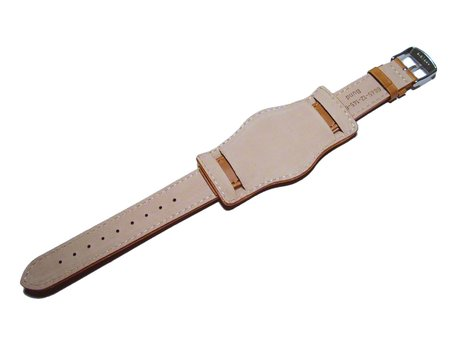 Watch band - Genuine leather - BW - with Pad - brown