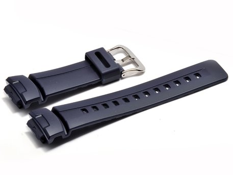 Genuine Casio Dark Blue Resin Replacement Watch Strap f. G-2400, G-2110, G-2310, G-100