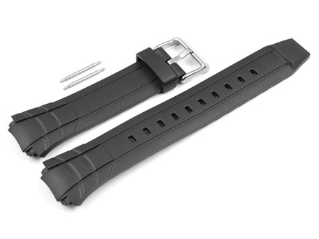Genuine Casio Black Rubber Replacement Watch Strap for MTR-501-7AV, MTR-501-1AV