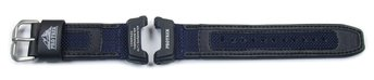 Genuine Casio Blue CLoth /Black Leather Watch Strap f....