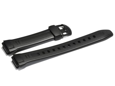 Watch strap Casio for  W-212H, rubber, black