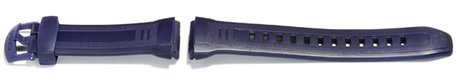 Watch strap Casio for  W-212H, rubber, blue