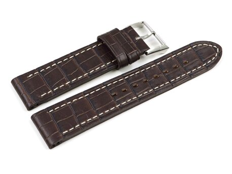Genuine Festina Watch Strap for F16135 and F16136, dark brown Leather