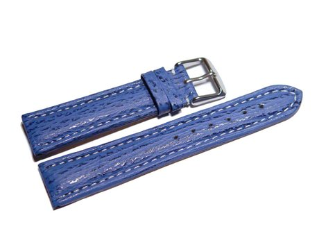 Watch strap - Genuine Shark leather - light blue